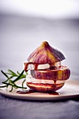 A fig with goat's cheese