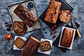 Banana and fruit loaves