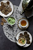 Crackers, Dips and Tea