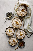 Rice Pudding in metal bowls