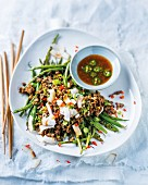 Asian bean and beef salad