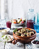 Lamb and feta keftedes