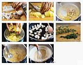 Steinpilzsuppe mit Kartoffeln zubereiten