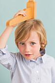 Child against height gauge
