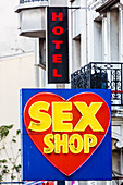 Sex shop and hotel, Paris, France