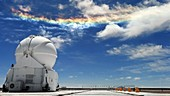 Circumhorizontal arc over astronomy site