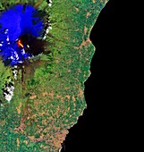 Eruption of Mount Etna, March 2017, satellite image