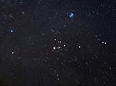 Taurus constellation, optical image
