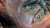 Seasonal water on Mars, MRO image