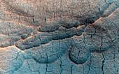 Thermokarst landscape on Mars, MRO image