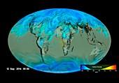 Gloabl carbon dioxide sinks, 3D model