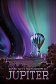 Jupiter space tourism poster