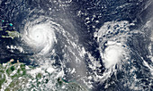 Hurricanes Irma and Jose, satellite image