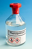Phenolphthalein in a reagent bottle