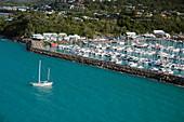 Airlie Beach harbour, Australia, aerial photograph
