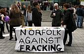 Protest against fracking, UK
