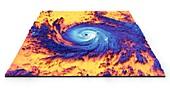 Hurricane Maria, thermal satellite image