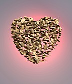 Heart shape made from pills