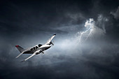 Aeroplane in thunder storm