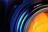 Camera lens, close up