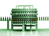 Bottling plant, illustration