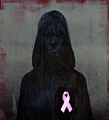 Breast cancer awareness ribbon, illustration