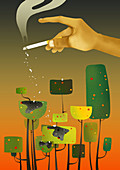 Conceptual illustration of environmental damage