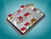 Digital tablet applications, illustration
