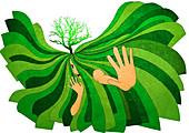 Illustration of environmental protection