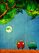 Illustration of eco friendly fuel