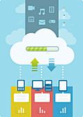 Illustration of cloud computing