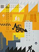 Illustration of construction industry