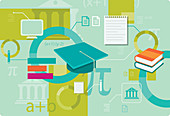 Illustration of education system