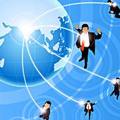 Illustration of global business