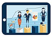 Illustration of online shopping business