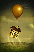 Illustration of real estate crash