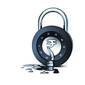 Melting combination lock, illustration