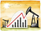 Oil refinery, illustration