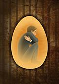Prisoner of mind, illustration