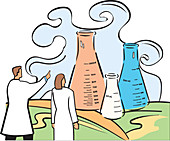 Scientists, illustration