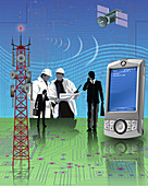 Telecommunication industry, illustration