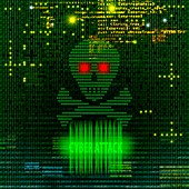 Cyber attack, illustration