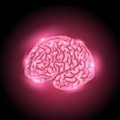 Glowing brain, illustration