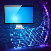 Digital technology, illustration