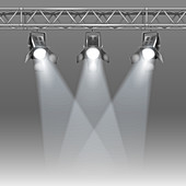 Stage spotlights, illustration