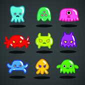Video game monsters, illustration