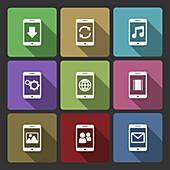 Mobile icons, illustration