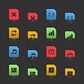 File icons, illustration