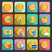 Electronic payment icons, illustration