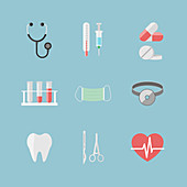 Medical icons, illustration